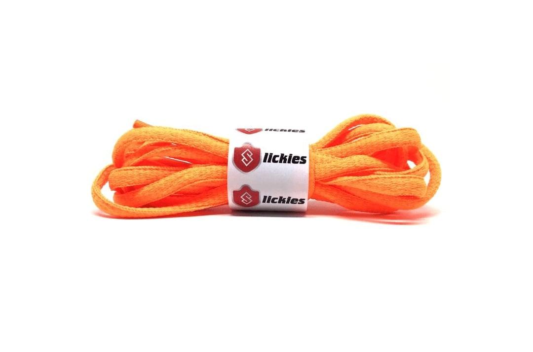 slide 1 - Basics Oval Laces - Vibrant Orange