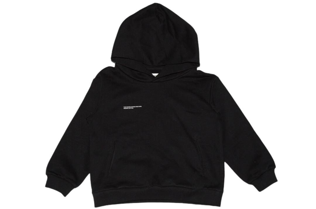 slide 1 - Black Organic Cotton Hoodie