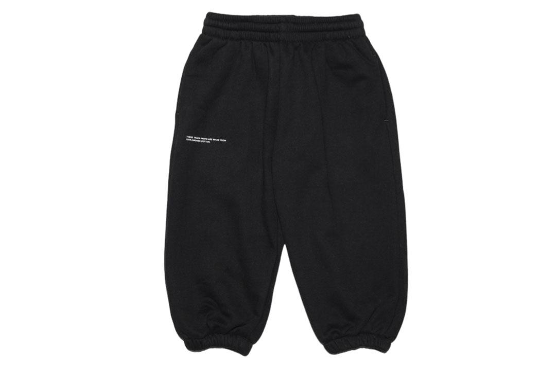 slide 1 - Black Organic Cotton Track Pants