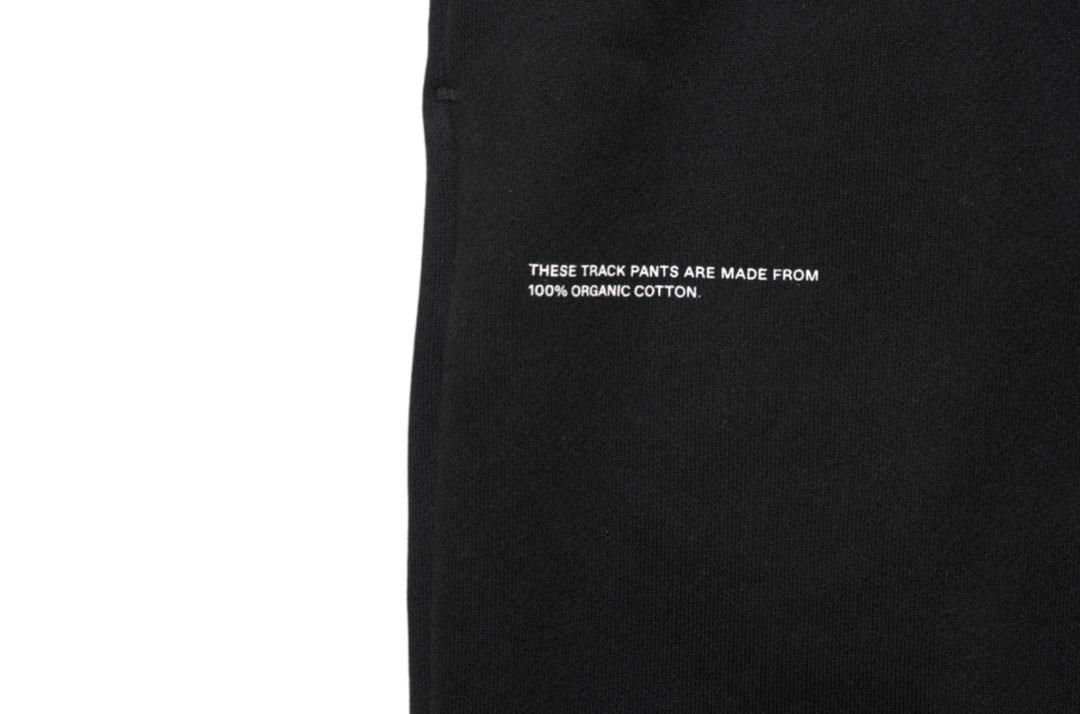 slide 2 - Black Organic Cotton Track Pants