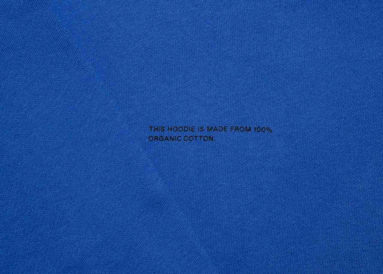 slide 3 - Cobalt Blue Organic Cotton Hoodie