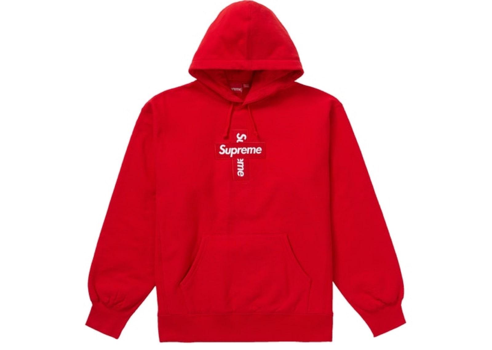 slide 1 - Red Cross Box Logo Hoodie