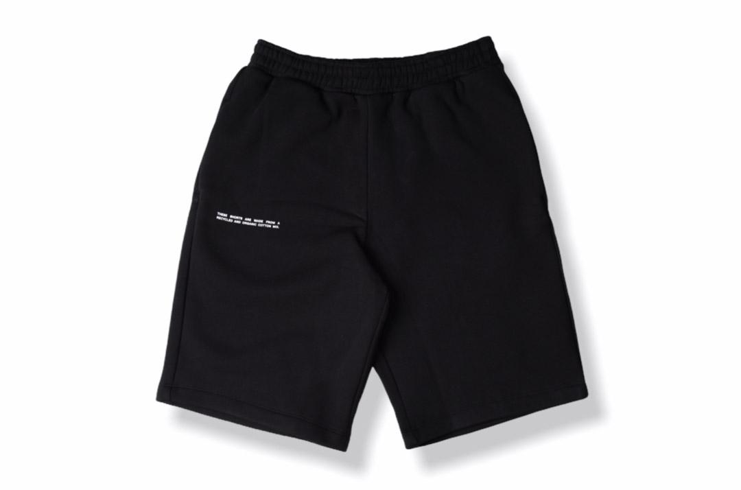 slide 1 - Heavyweight Cotton Long Shorts - Black