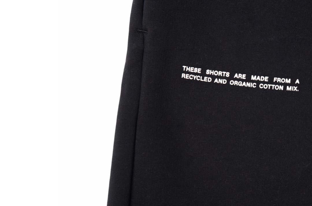 slide 3 - Heavyweight Cotton Long Shorts - Black