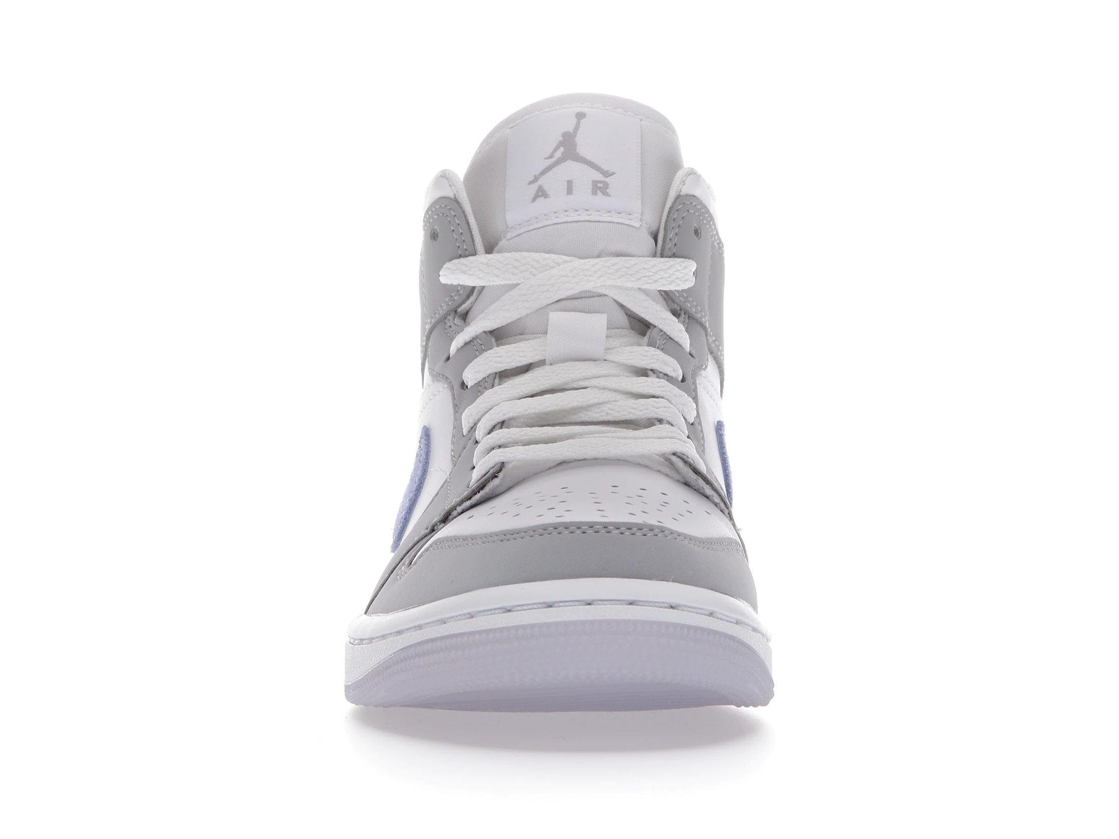 slide 2 - Jordan 1 Mid Wolf Grey Aluminum (W)