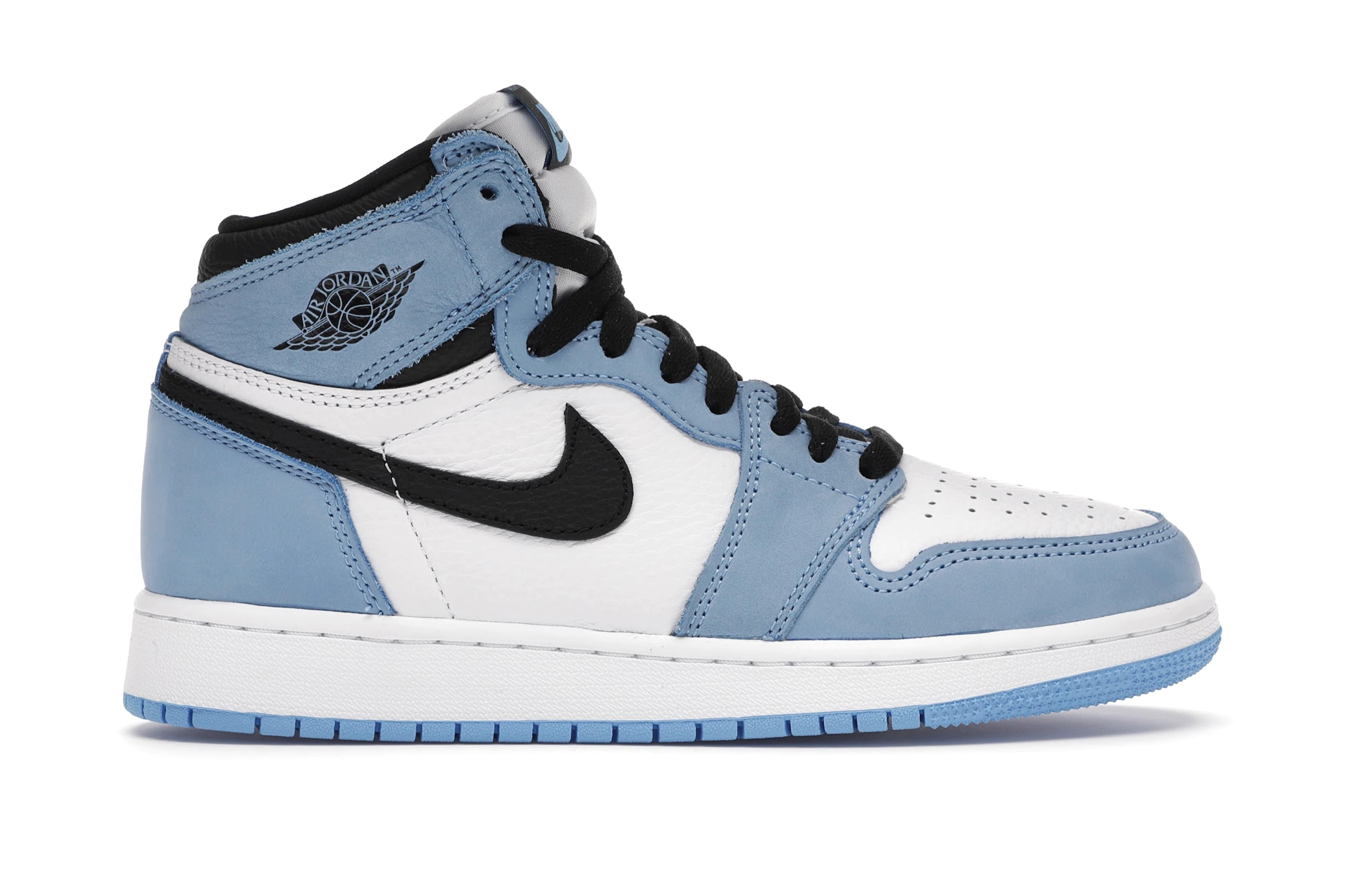 slide 1 - Jordan 1 Retro High White University Blue Black (GS)
