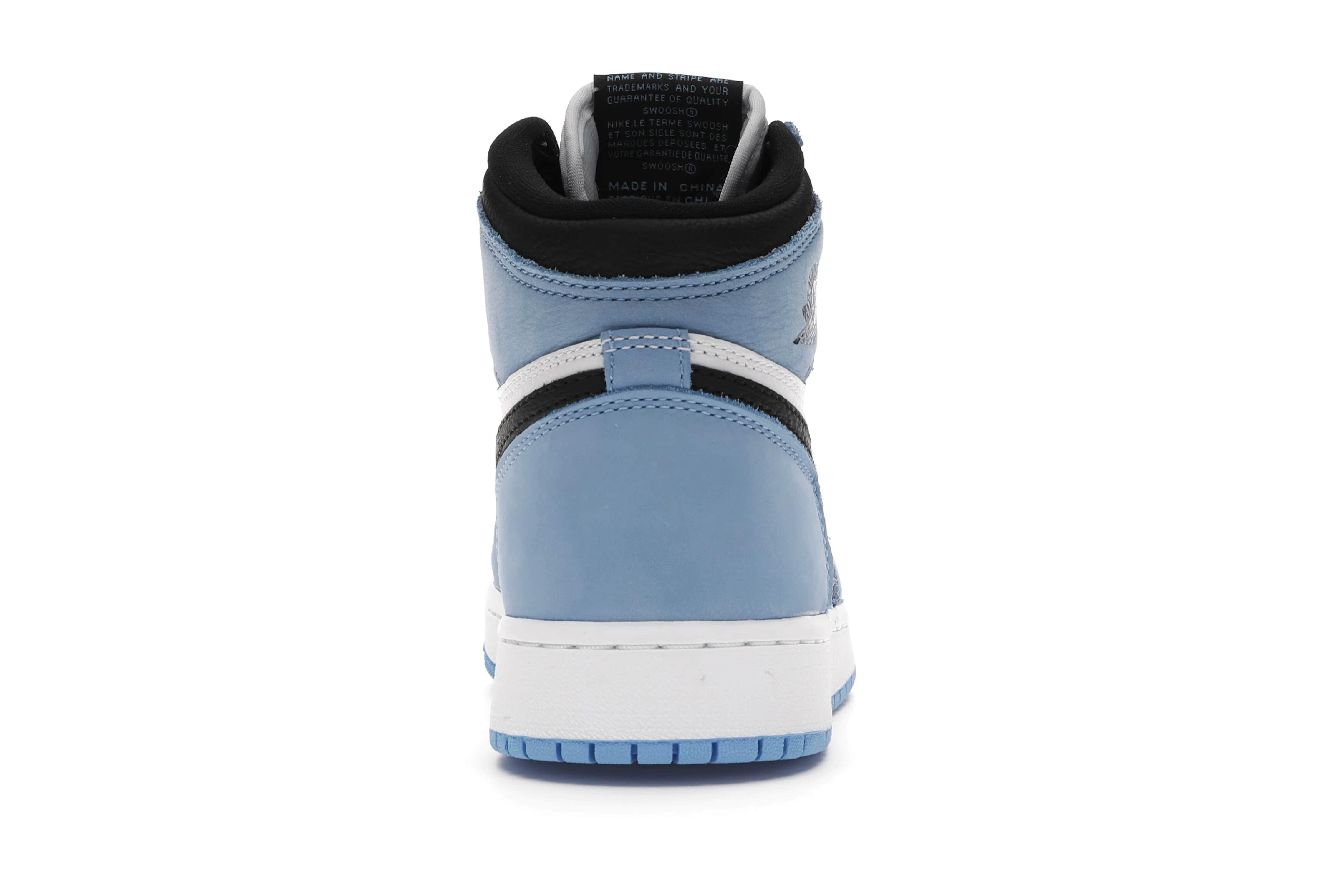 slide 4 - Jordan 1 Retro High White University Blue Black (GS)