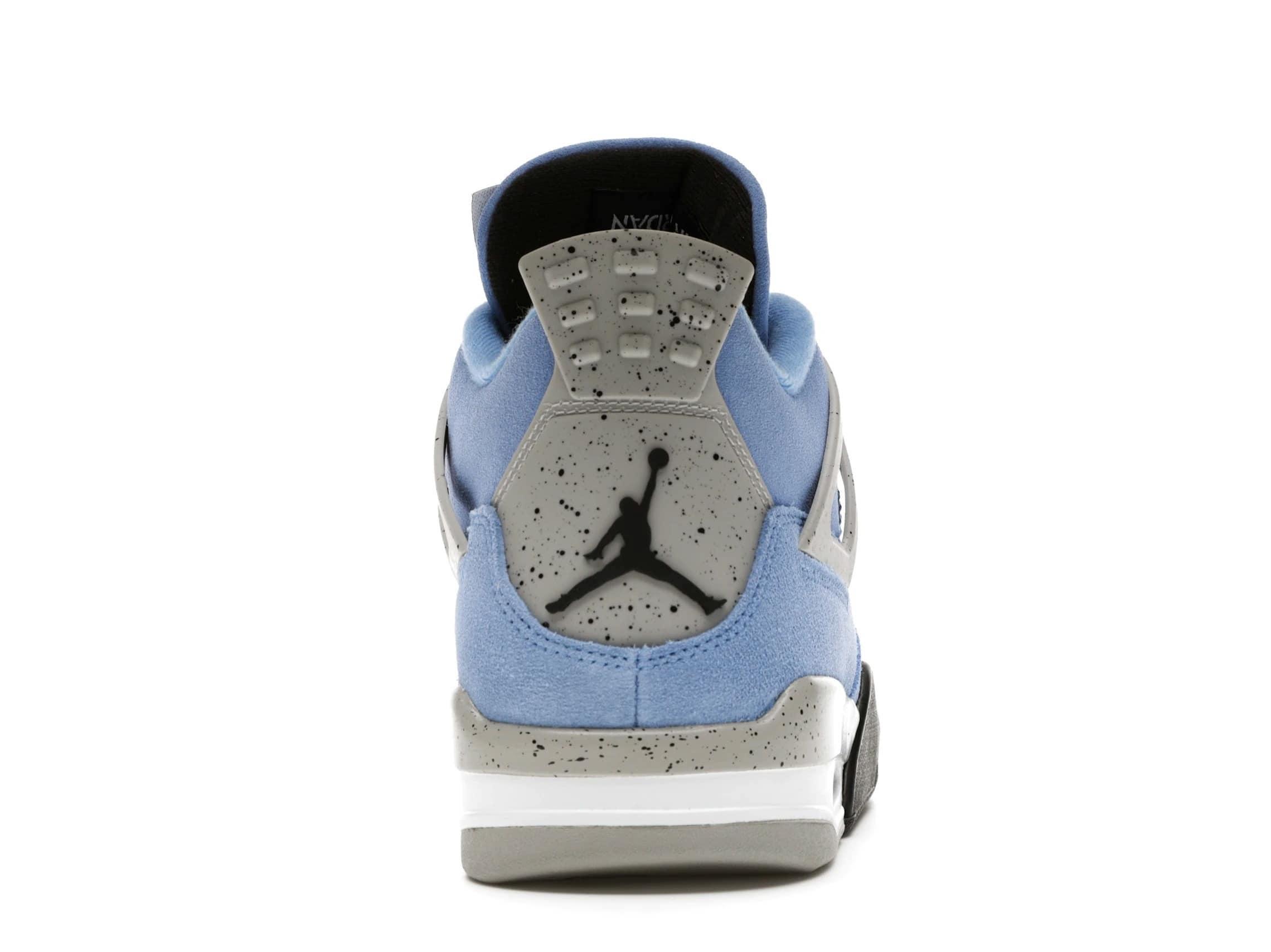 slide 4 - Jordan 4 Retro University Blue