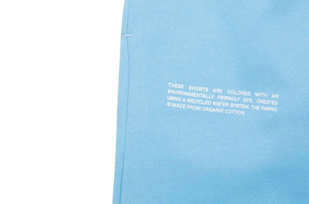 slide 2 - Lightweight Organic Cotton Long Shorts - JUST Blue