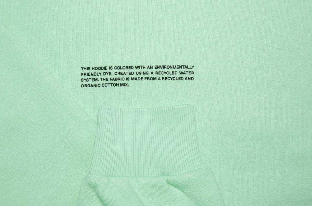 slide 2 - Lightweight Recycled Cotton Hoodie - Matcha Green