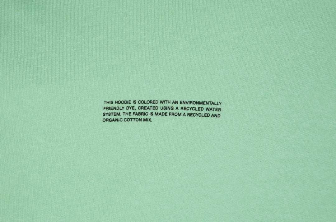 slide 3 - Lightweight Recycled Cotton Hoodie - Matcha Green