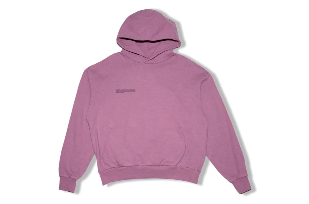 slide 1 - Lightweight Recycled Cotton Hoodie - Plum Purple