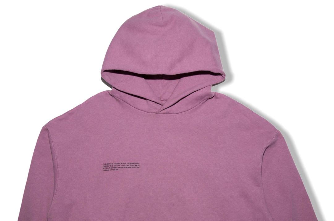slide 2 - Lightweight Recycled Cotton Hoodie - Plum Purple