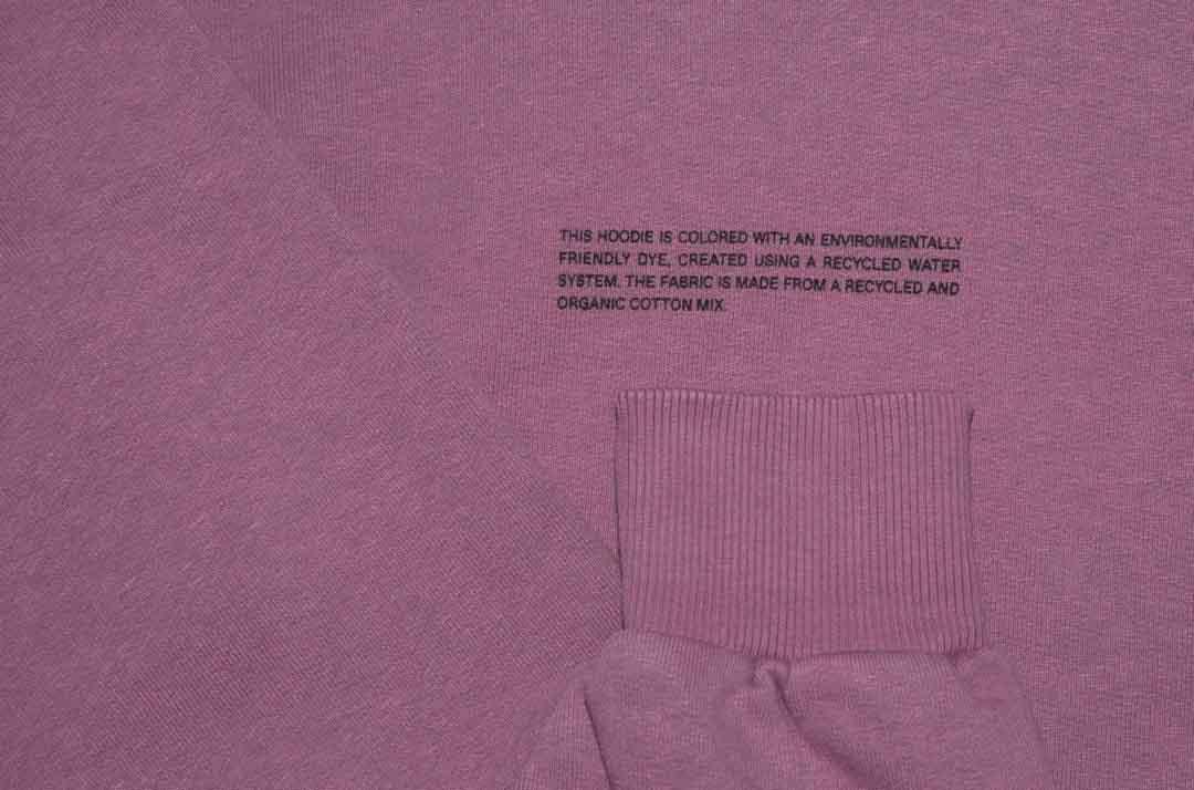 slide 3 - Lightweight Recycled Cotton Hoodie - Plum Purple