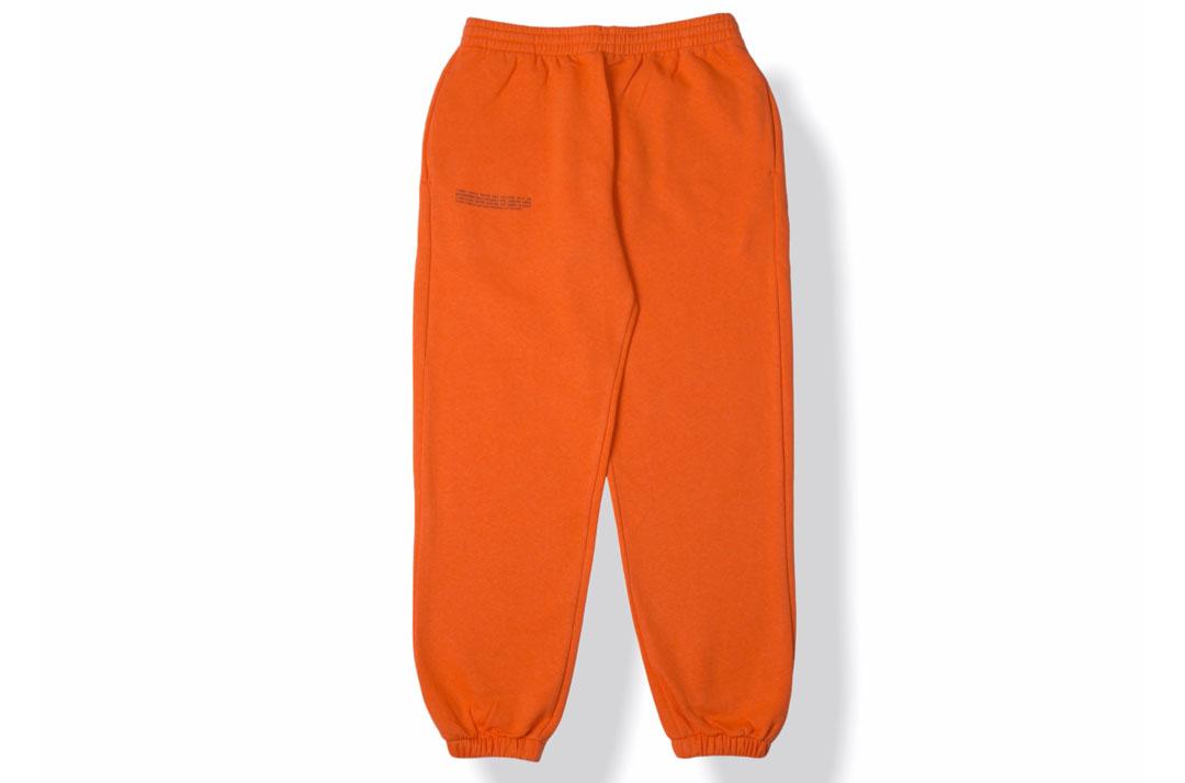 slide 1 - Lightweight Cotton Track Pants - Persimmon Orange