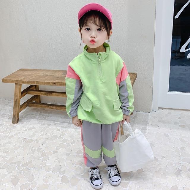 slide 1 - Long Sleeve Pullover & Sweatpants - Green