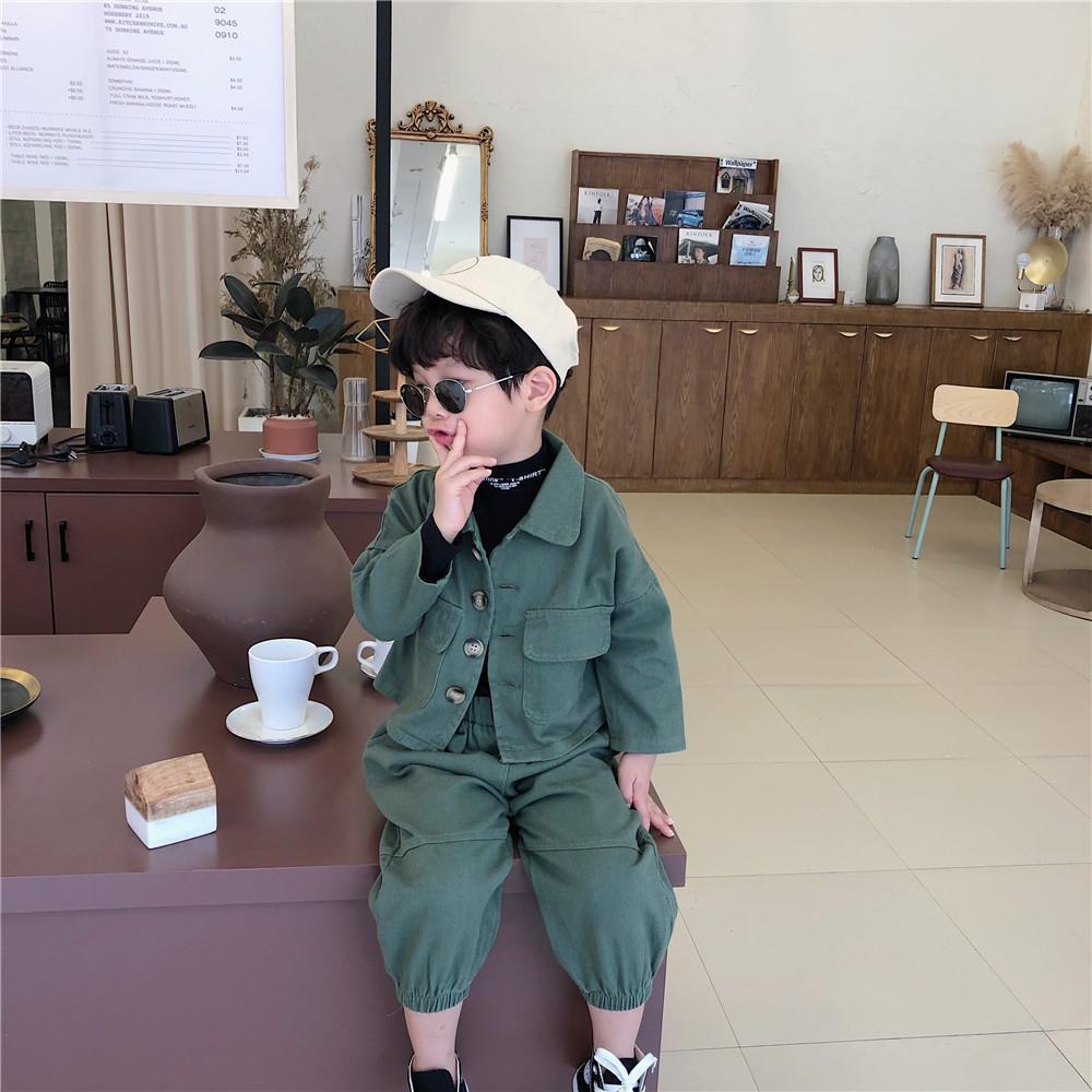 slide 2 - Loose Short Jacket & Bloomers - Army Green