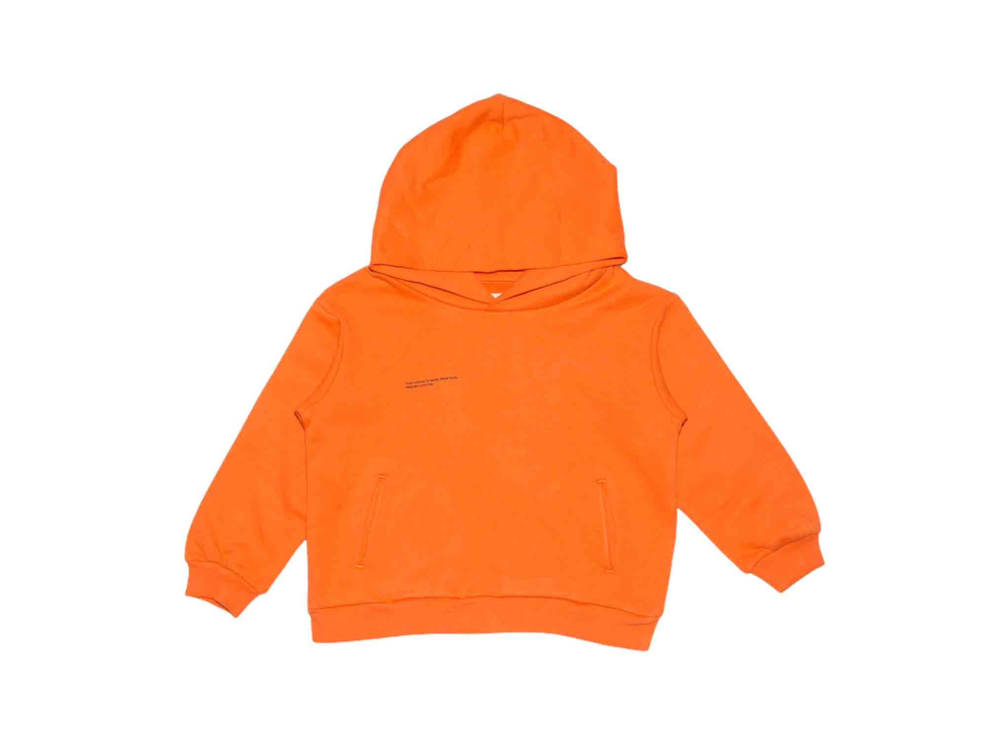 slide 1 - Persimmon Orange Organic Cotton Hoodie