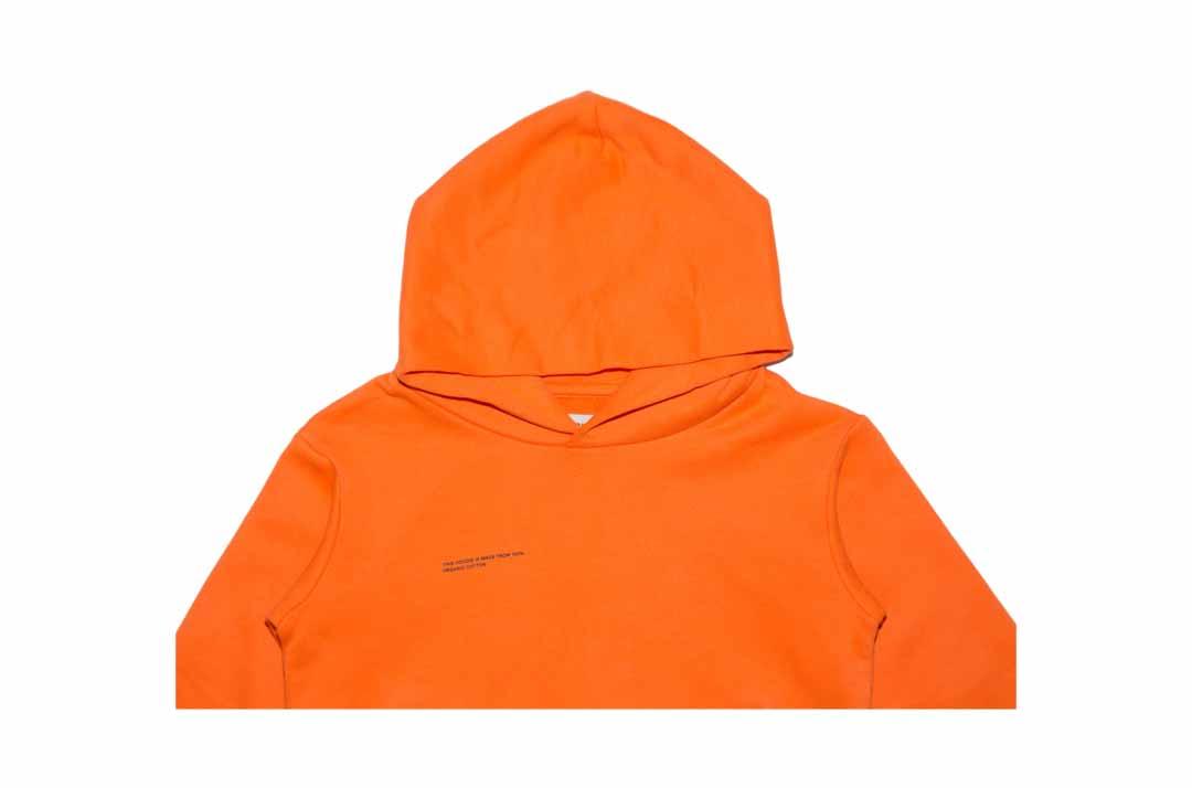 slide 2 - Persimmon Orange Organic Cotton Hoodie