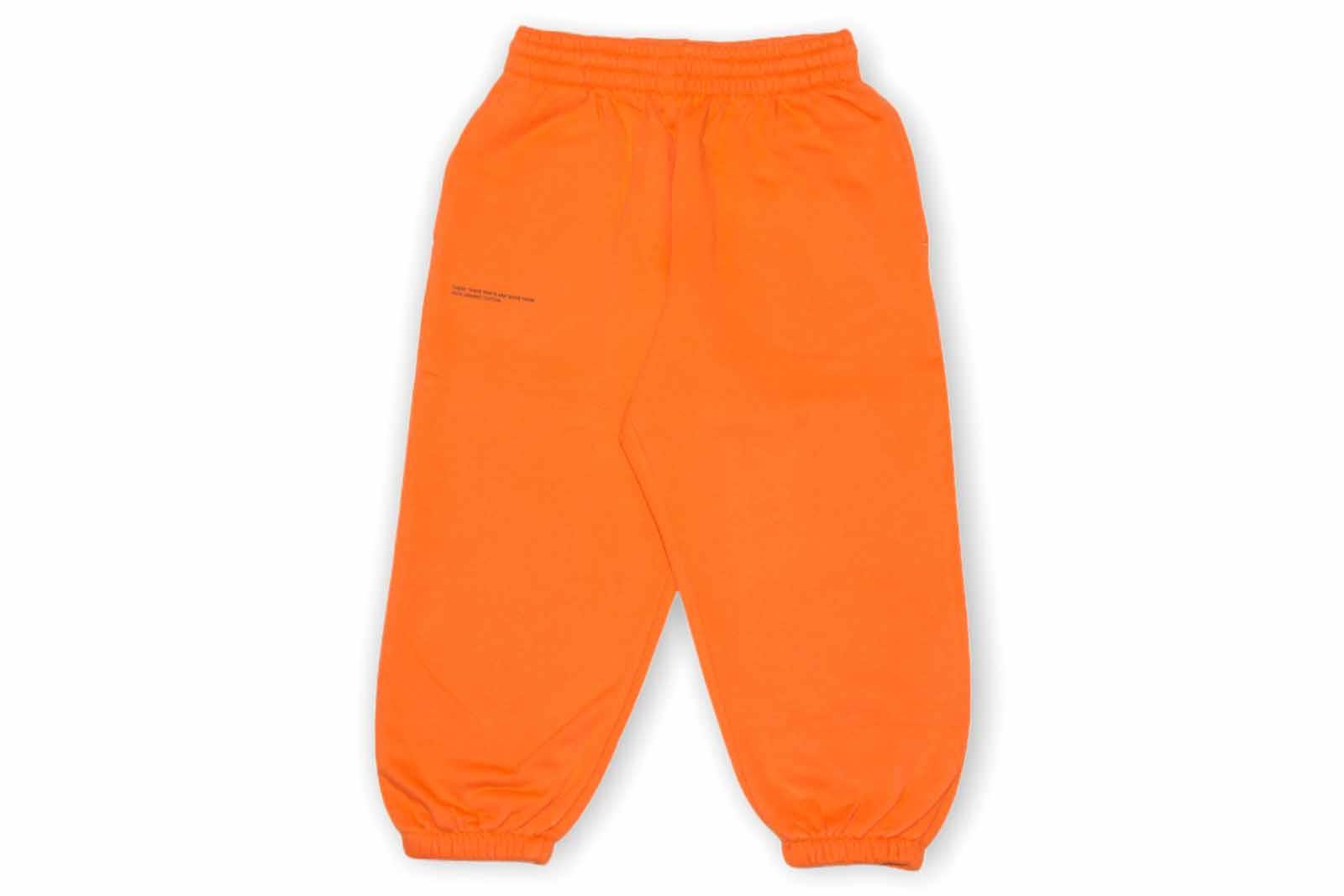 slide 1 - Persimmon Orange Organic Cotton Track Pants