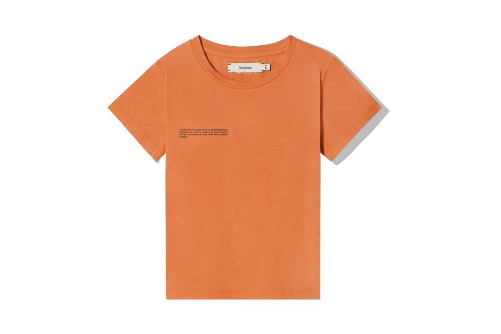 slide 1 - Persimmon Orange Organic Cotton Tshirt