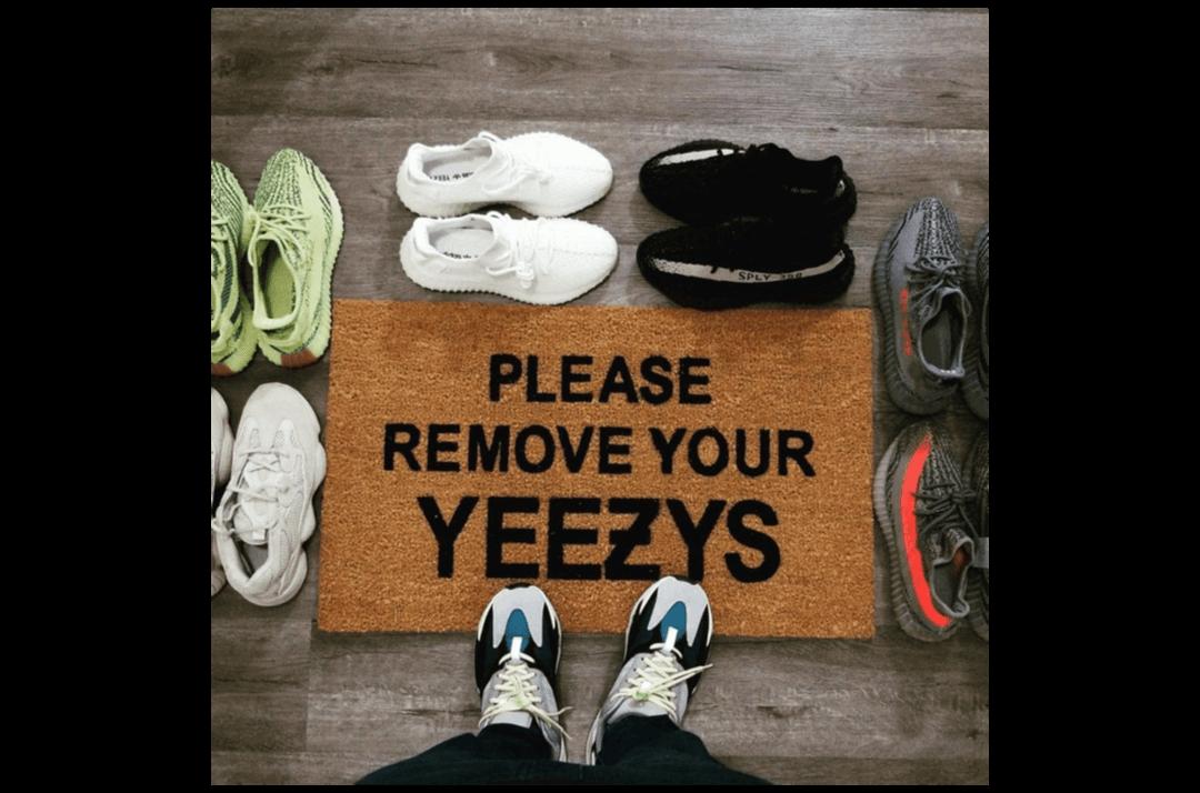 slide 2 - Remove Your Yeezys - Door Mat