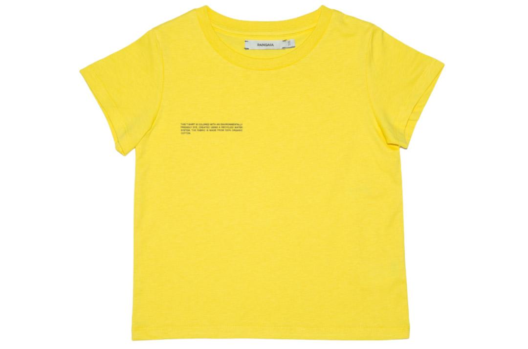 slide 1 - Saffron Yellow Organic Cotton Tshirt