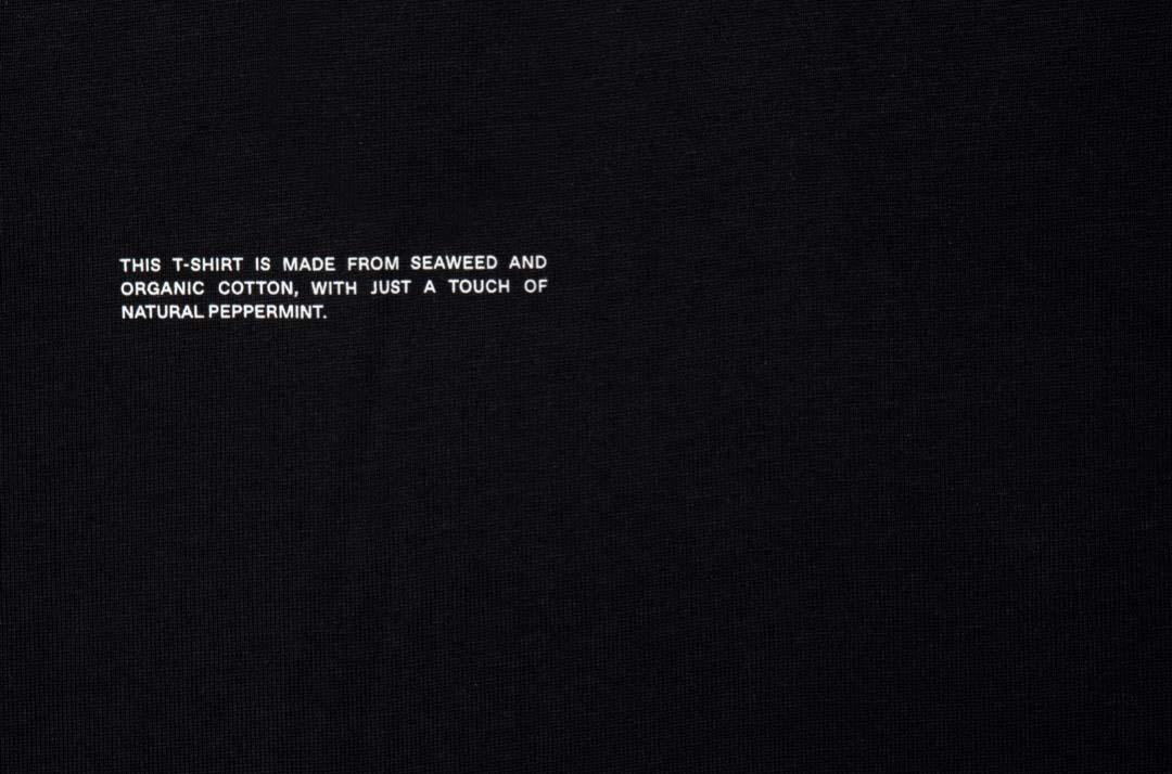 slide 2 - Seaweed Fiber Tshirt - Black