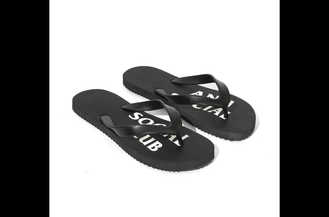 slide 2 - UFO Black Slippers