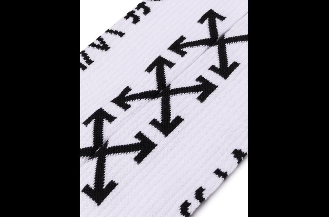 slide 2 - White Arrow Logo Socks