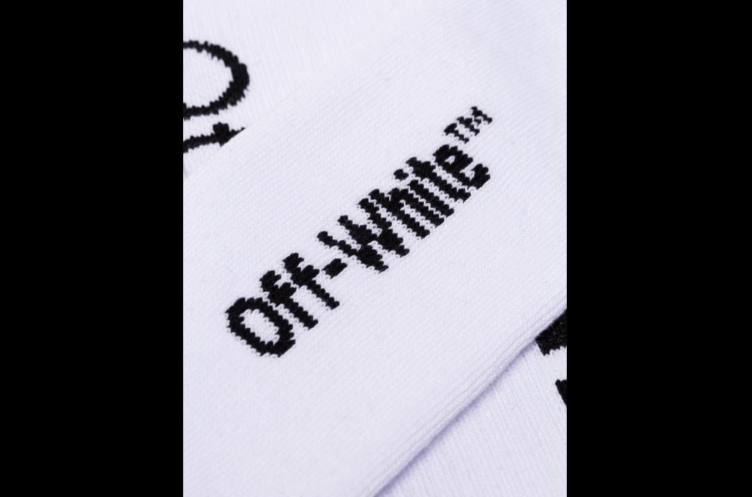 slide 3 - White Arrow Logo Socks