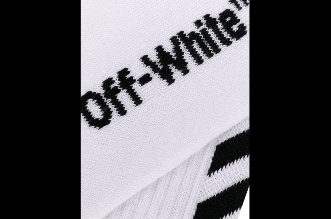 slide 2 - White Diagonal Socks