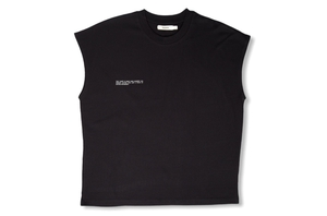 Cropped Shoulder Tshirt - Black