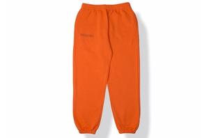 Lightweight Cotton Track Pants - Persimmon Orange