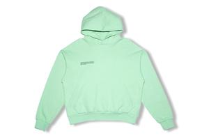 Lightweight Recycled Cotton Hoodie - Matcha Green