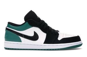 Jordan 1 Low White Black Mystic Green