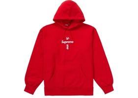 Red Cross Box Logo Hoodie